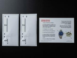 Uhrenschutzfolien für Submariner oder GMT-Master II