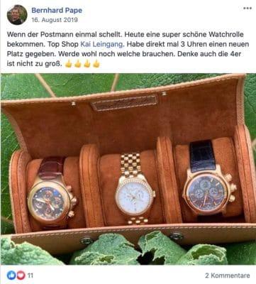 Feedback zu unseren Uhrenrollen von Bernhard