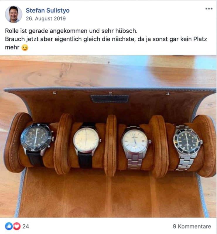 Feedback zu unseren Uhrenrollen von Stefan