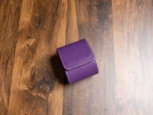 Uhrenrolle Leder Lila für eine Uhr