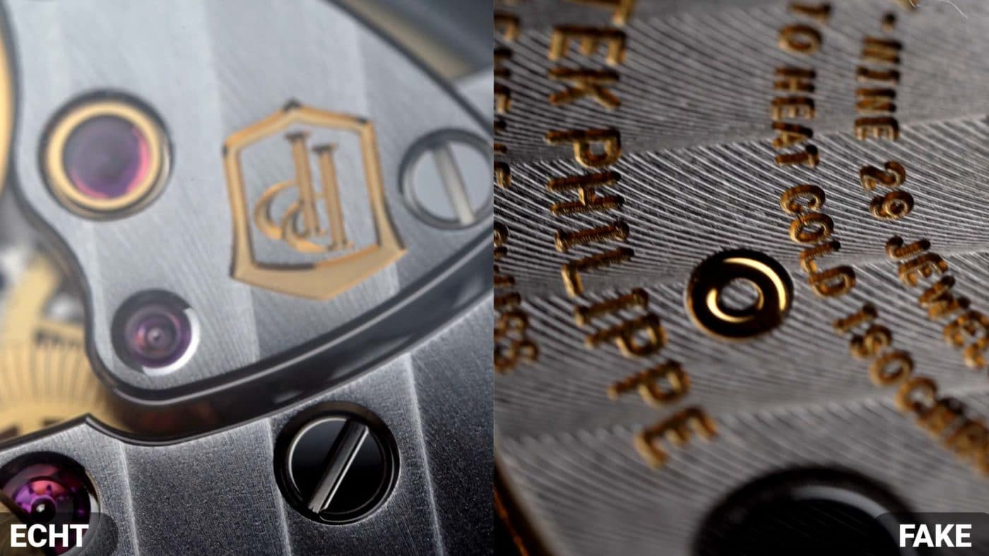 Uhrwerk vergleich Patek philippe Nautilus 5711  fake VS Real